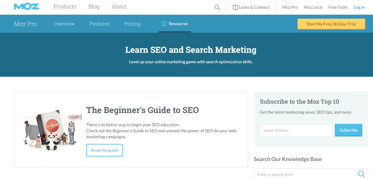 Free Online Learning Sites - Moz