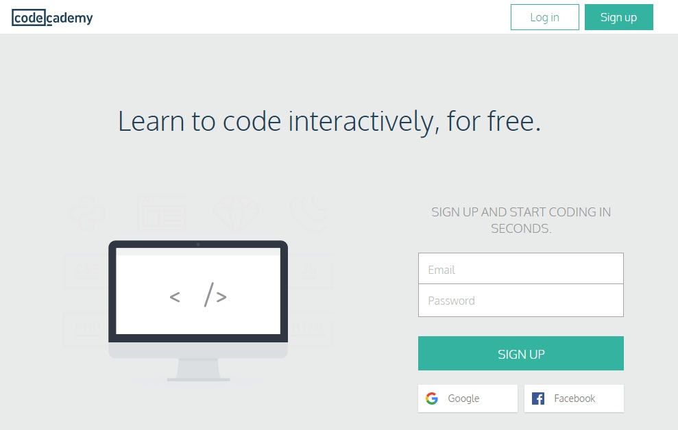 Free Online Learning Sites - codeacademy