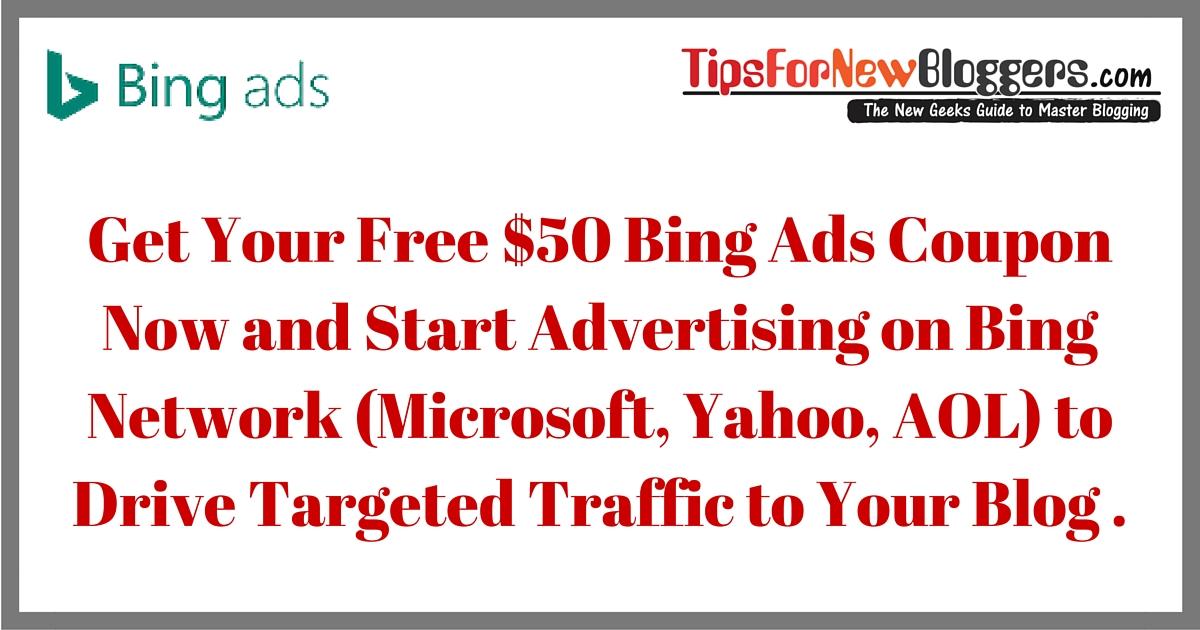 Free Bing Ads Coupon